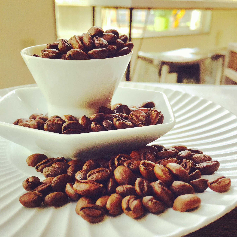 器に盛られたコーヒー豆