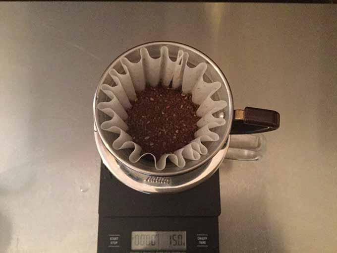 コーヒーをセット