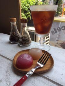 特製フルーツ水まんじゅうとコーヒー