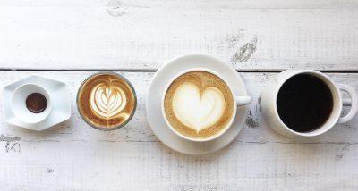 いろいろな種類のコーヒー