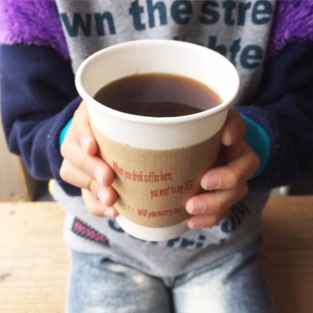 子供とコーヒー