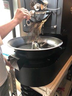 コーヒー豆、焙煎