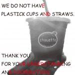 プラスチック、ストロー、カップ、廃止